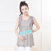 Radiation suit maternity dress authentic spring and summer seasons pregnant women radiation-proof camisole wearing silver fiber clothes