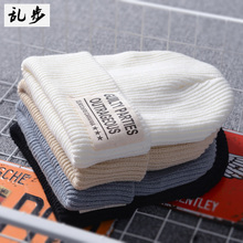 Korean version of the tide youth warm ear baotou hat student couple autumn and winter wool hat men and women outdoor knit hat
