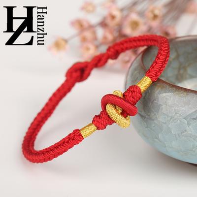 汉珠手工编织大乘金刚结红色绳手链男女八股平安如意开运手绳情侣