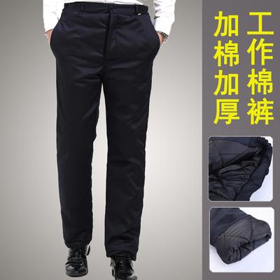 男士工作服棉裤工程裤子加厚防寒保暖冷库外穿保安工人工装裤劳保