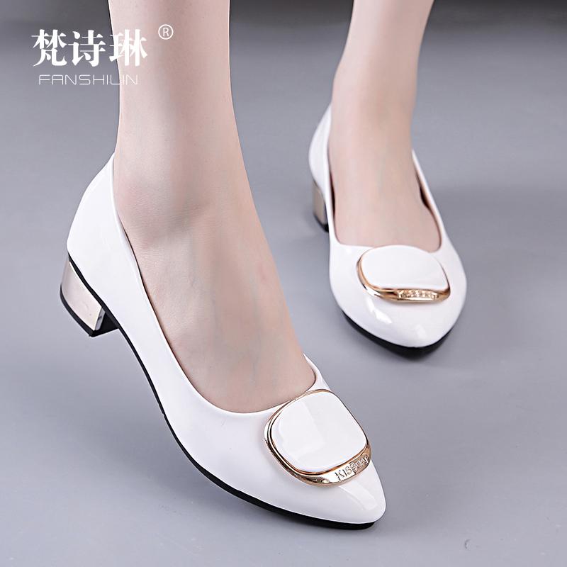 女鞋春中跟休闲鞋