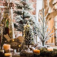掬涵 圣诞树节日装饰摆件雪松 橱窗拍摄道具桌面地面圣诞节