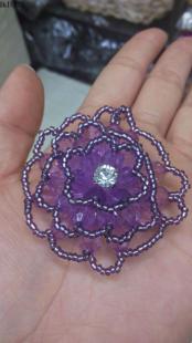 DIY饰品配件亚克力花手工编织玻璃塑料花手工串珠散珠来样加工