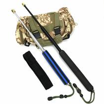 甩鞭棍伸缩三节棍子钢防身棍弹簧甩棍男女自卫防身武器材甩棒甩棍