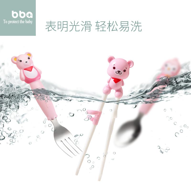 儿童筷子训练筷家用一段餐具套装叉勺子宝宝学习练习筷子小孩男孩