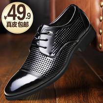 男士商务正装棉皮鞋尖头黑色保暖潮鞋韩版冬季加绒英伦休闲鞋子男