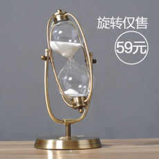 Time hourglass timer 30/60 minutes creative metal ornaments birthday gift European style living room decoration hourglass