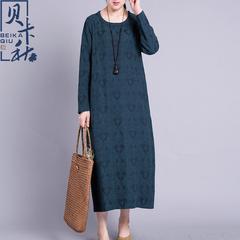 棉麻女袍子
