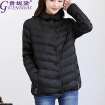 加肥加大加厚棉衣女短款轻薄棉服胖mm2018新款小棉袄大码冬装外套