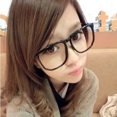 76541f964c Big face glasses frame myopia female round face tide large black frame  glasses men flat mirror