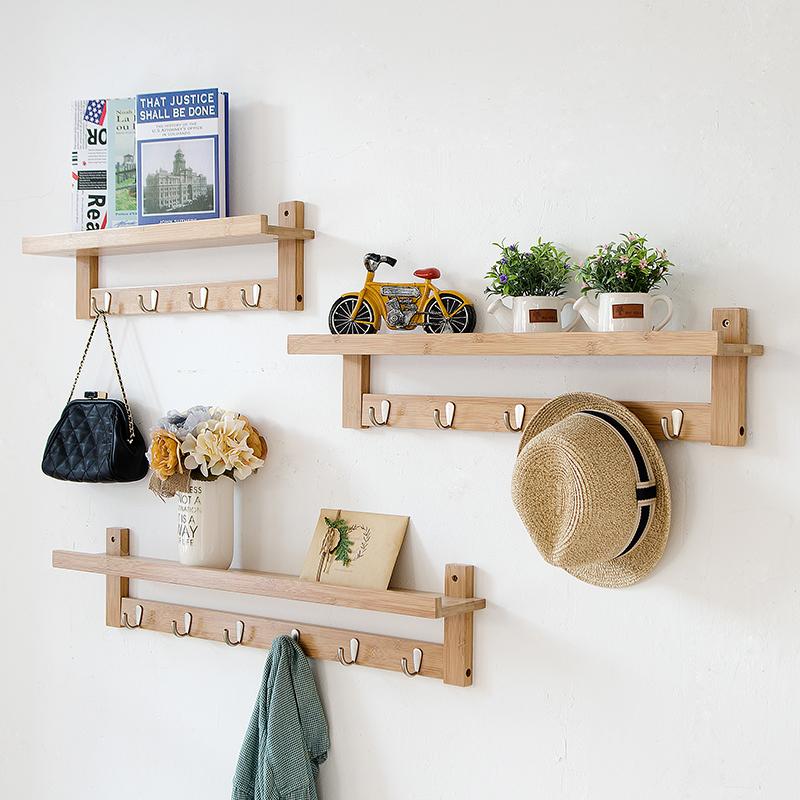 壁挂实木衣帽架衣钩