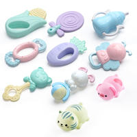 Newborn baby toys 0-1 years old teething rattles 4 months 3 baby puzzle 6 boys and girls grip training 12