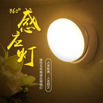 充电池LED光控楼道起夜卧室床头台节能自动过道人体感应灯小夜灯