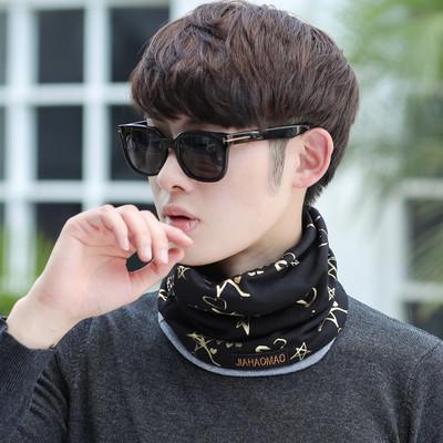 围脖男韩版潮学生双层多用骑行护耳帽男冬季户外青年时尚套头脖套