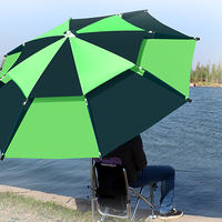 Fishing umbrella 22,000 to sunscreen rain thickened fish umbrella fishing parasol fishing gear three folding fishing umbrella big fishing umbrella