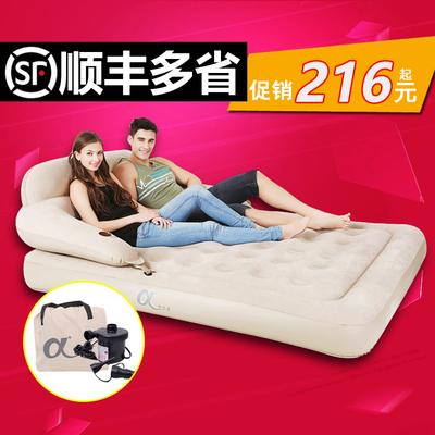阿尔法可拆装靠背充气床垫 单双人加厚植绒立柱陪护床户外气垫床