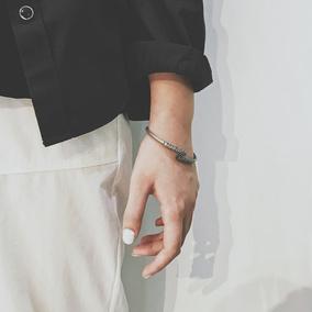 欧美冷淡风复古钛钢手链男韩版潮朋克手环男士手镯学生嘻哈手饰品