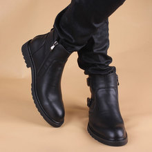 Boots Men Winter Korean Edition Fashion Low-end Short Cylinder Snowfield Men Martin Shoes, Leather Boots, Leather Shoes