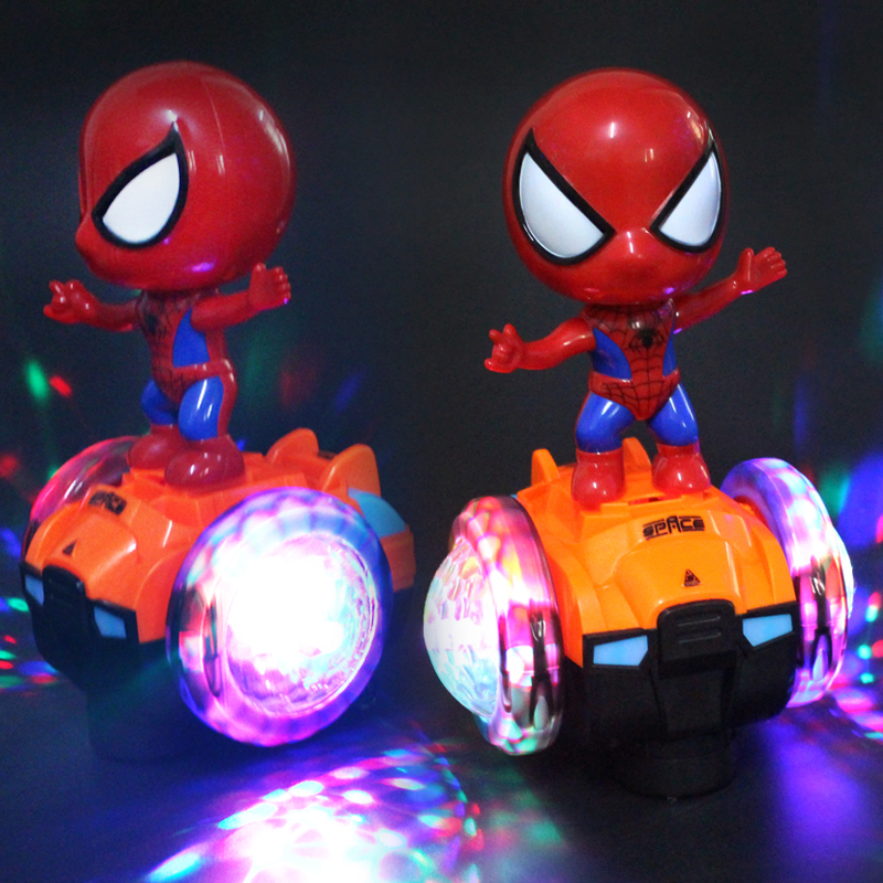Colorful lights rotating robot kids 1-2-3 year old boy toy car