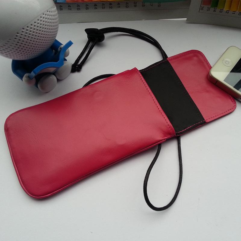 时尚手提小号韩国双肩防辐射手机套孕妇 通用手机母婴帆布单肩
