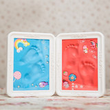 Small feet old-fashioned small-hand small-footed newborns grow-up souvenir hand footprints mud to leave feet mold children hand-made