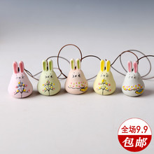 手绘陶瓷创意礼品 美人瓷景德镇陶瓷手工风铃 龙猫多色可选