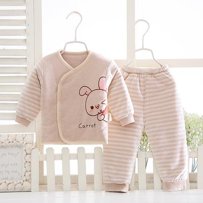 彩棉婴儿中厚保暖内衣套装新生儿纯棉衣棉服春秋冬季宝宝夹棉袄