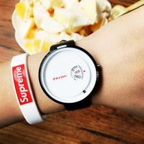 厂家直销韩版潮流时尚休闲皮带手表简约非诚勿扰男表女表手表