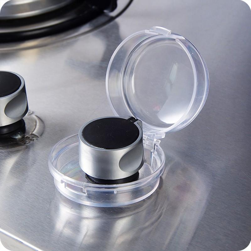厨房燃气旋钮塑料保护罩煤气灶台开关盖儿童防护安全用品2个装