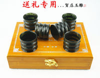 Jiuquan Luminous Cup is a luminous cup Hedian jade carving Wushan luminous cup natural jade wine glass cup Gansu jade