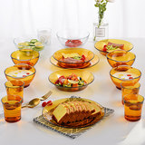 European tableware 15 pieces imported from France DURALEX multi-les tempered glass