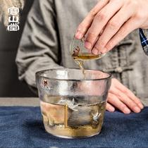容山堂原礼 镶银玻璃茶洗 大号日式水盂笔洗小茶渣桶建水茶具配件