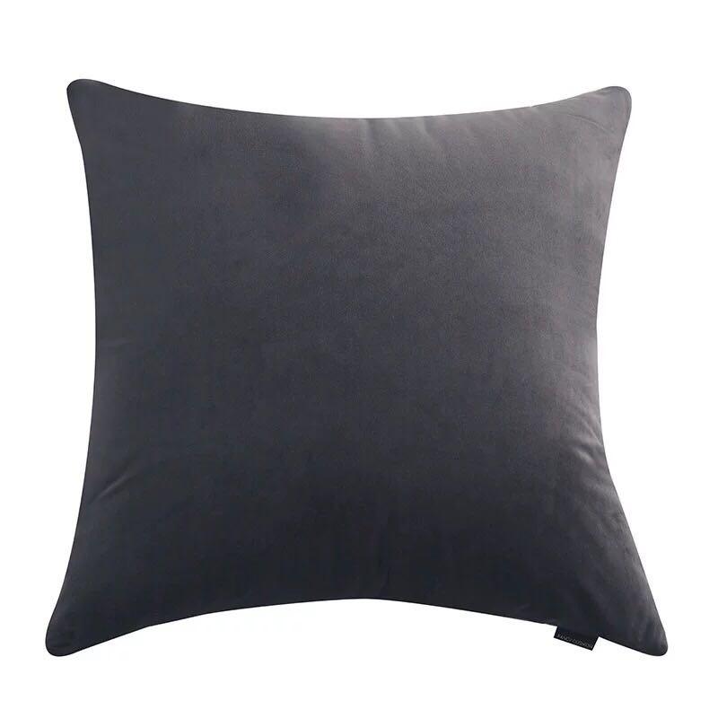 60*60荷兰丝绒超大靠垫抱枕头羽加厚复古天鹅高密度灰咖啡色