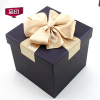 Large square gift box Blue ball soccer box Korean version of the box business custom Blue black red gift box