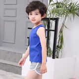 2019 Korean fashion boys and girls summer vests solid color wild 1-3-5 years old children's bottoming vest