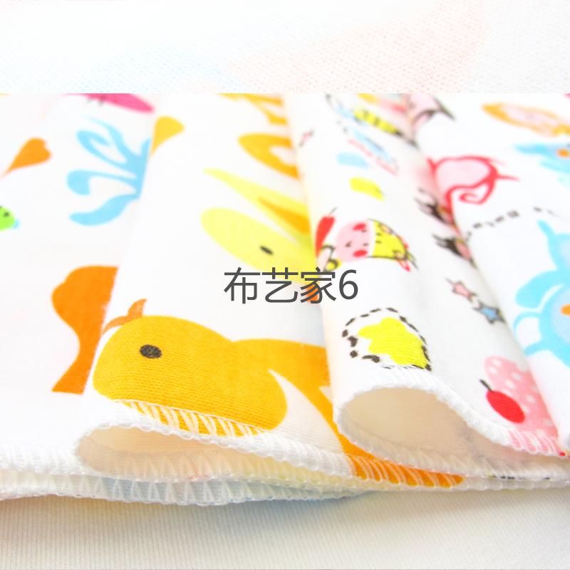 新生婴儿纯棉手帕婴儿喂奶巾宝宝洗脸毛巾口水巾儿童小方巾六条装