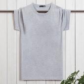爸爸装 大码 中老年人体恤夏装 中年男短袖 天天特价 T恤圆领纯棉薄款图片