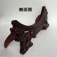Ceramic decorative plate double faucet bracket high-grade display plate bracket wooden base disc can be LOGO custom