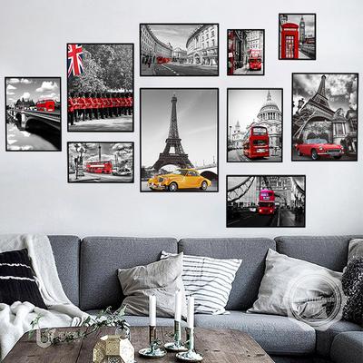 现代简约墙贴创意个性墙纸贴画相框贴纸卧室客厅沙发电视背景装饰正品热卖