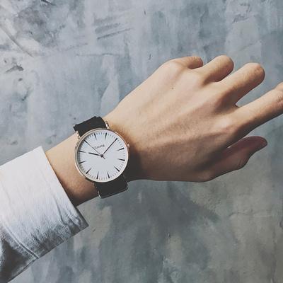 手表女学生韩版简约潮流ulzzang 欧美个性潮男复古休闲时尚帆布带今日特惠