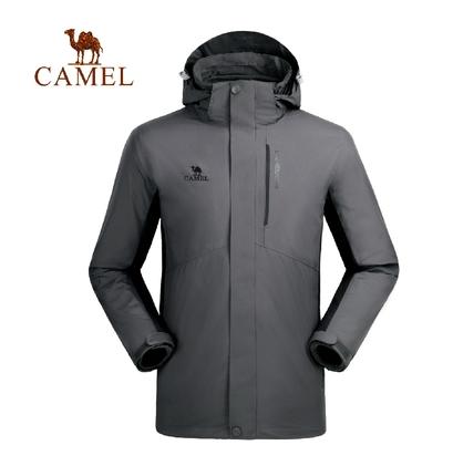 Camel骆驼户外冲锋衣 防风保暖三合一潮牌男女款冲锋衣 A8W268109