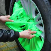 汽车轮毂喷漆钢圈改色膜后视镜贴膜轮毂修复可撕喷膜自喷漆手撕膜