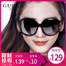 墨镜眼睛圆脸2019偏光 古奢太阳镜女士潮新款 防紫外线大框眼镜时尚图片