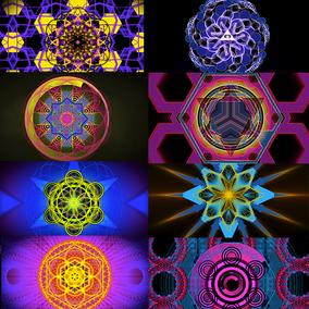 26个动态神秘几何vjloop 无缝循环视频素材SACRED GEOMETRY