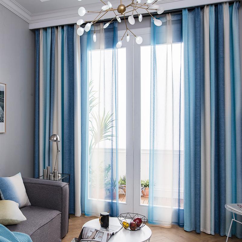 现代地中海窗帘
