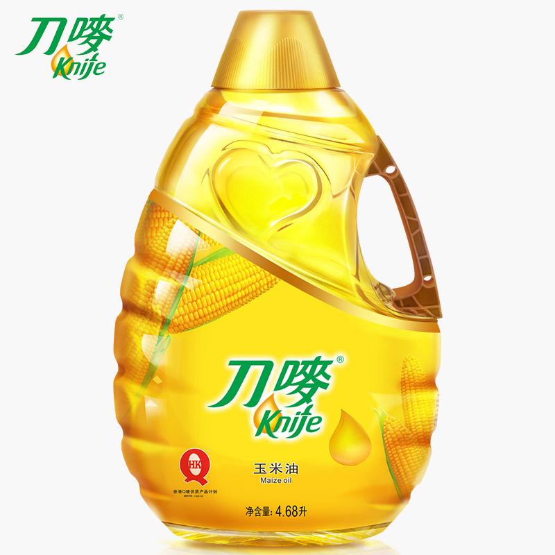 刀唛玉米油4.68L非转基因植物油健康调味油烘焙用油食用油桶装