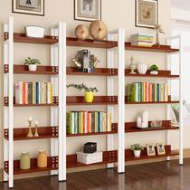 钢制书架学校图书馆阅览室家用简易书架单双面置物展示柜收纳铁架