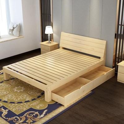 经济型实木床1.8米二手双人床旧货现代简约家具市场1.5米家居床架