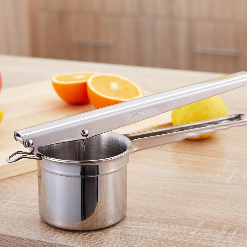 雅怡洁 不锈钢手动榨汁机柠檬夹子多功能土豆泥压泥器水果榨汁器