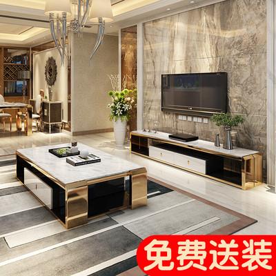 简约不锈钢茶几电视柜组合客厅大理石小户型现代储物ktv酒店定制评价好不好